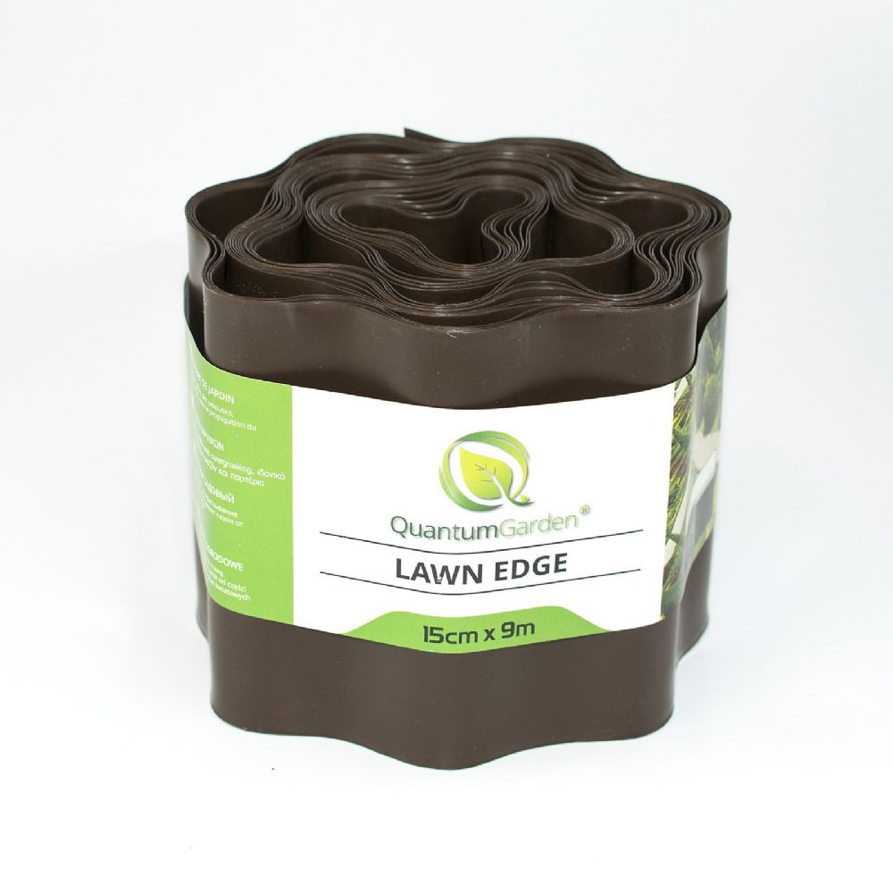 Flexible Plastic Lawn Edge 15cm x 9m in Brown Colour